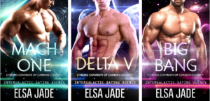Intergalactic Dating Agency Cyborg Cowboys of Carbon County science fiction romance by Elsa Jade